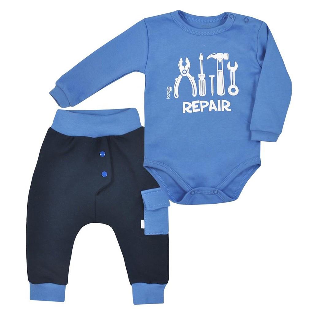 2-dílná bavlněná kojenecká souprava Koala Repair blue