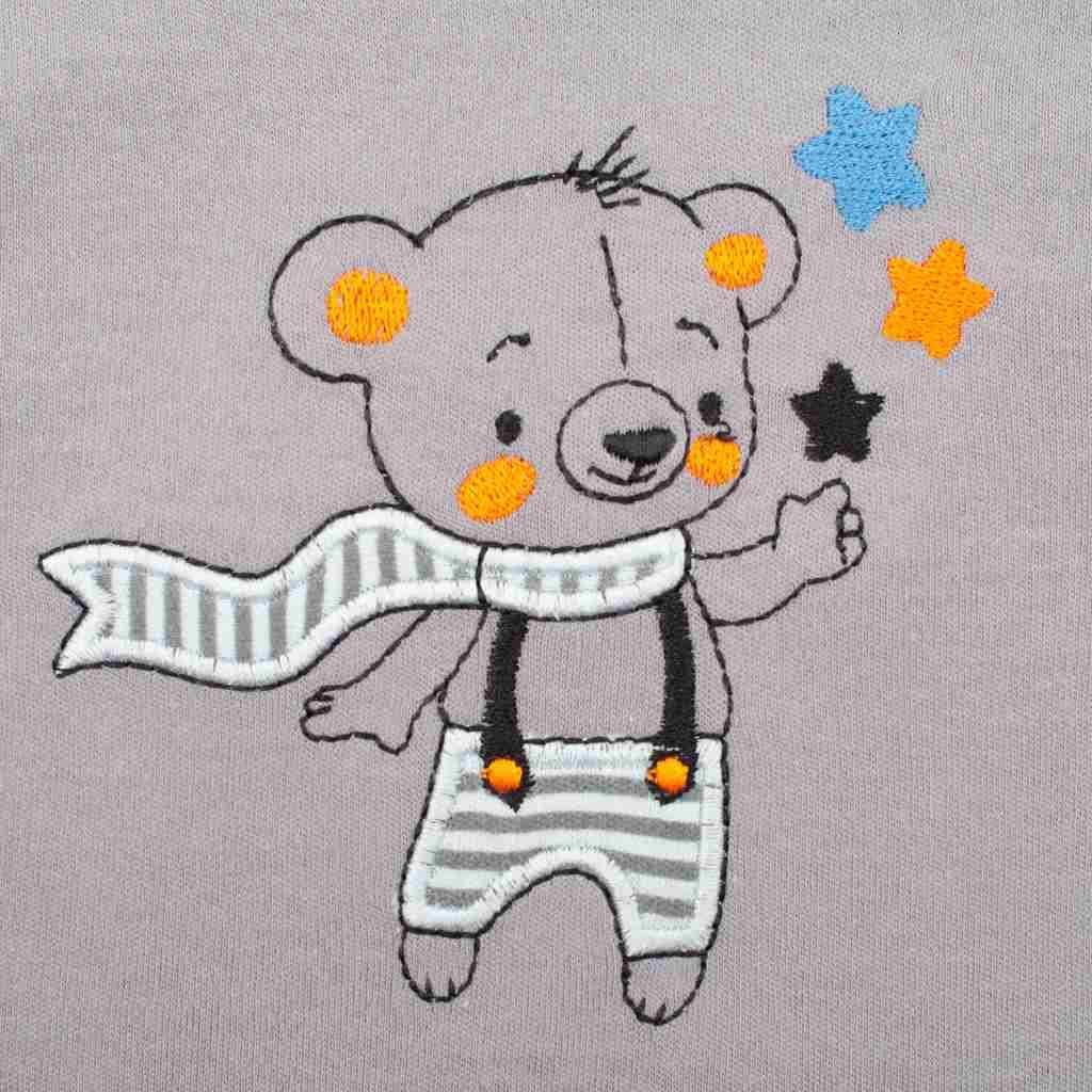 2-dílná bavlněná souprava New Baby Lucky Bear vel. 74 (6-9m)