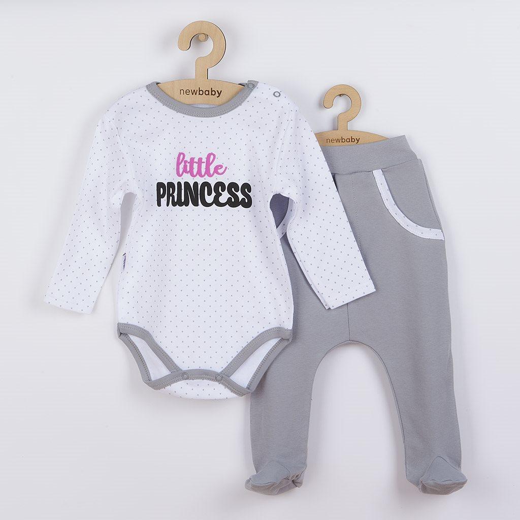 2-dílná bavlněná souprava New Baby Little Princess, 86 (12-18m)