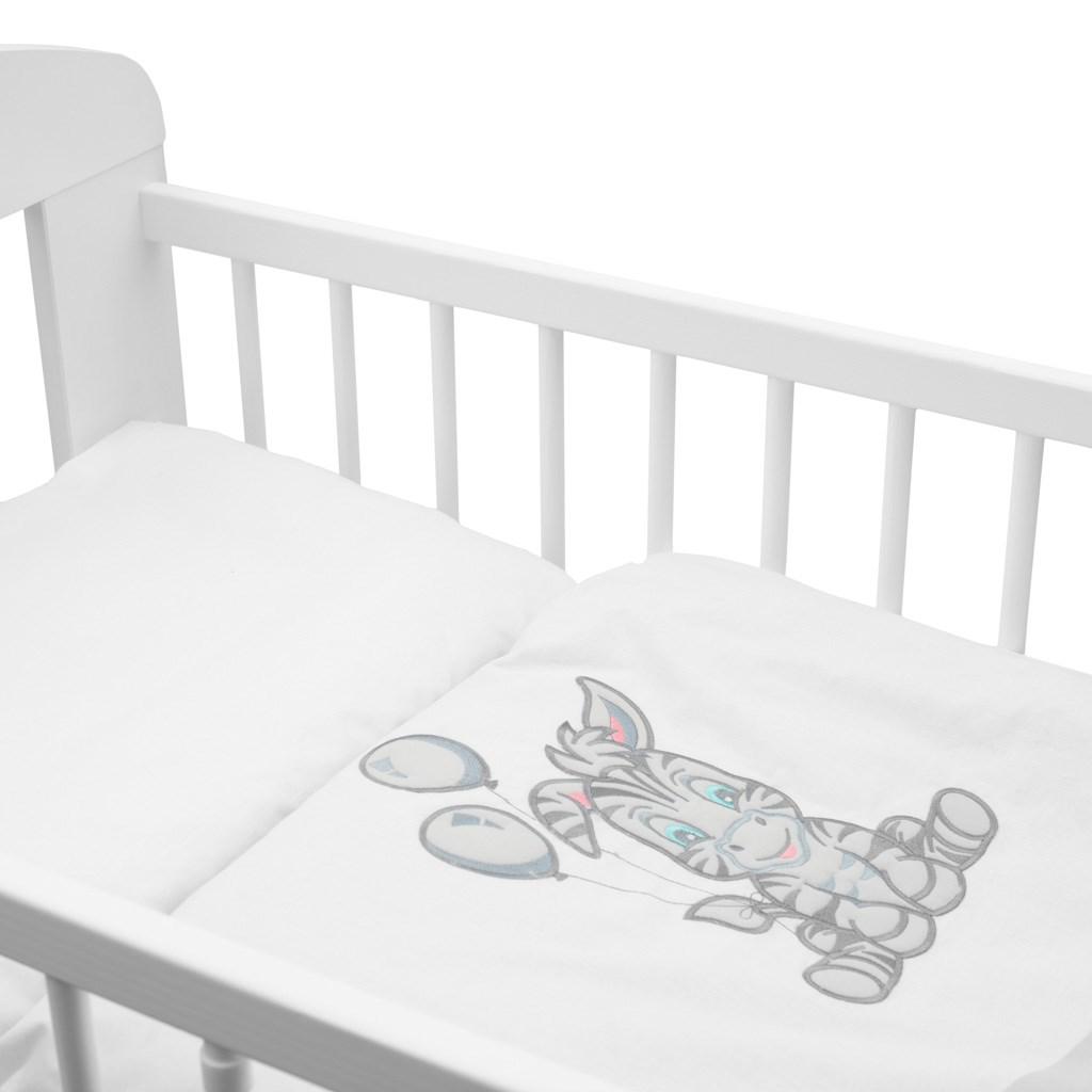 2-dílné ložní povlečení New Baby Zebra exclusive 100/135 bílo-šedé
