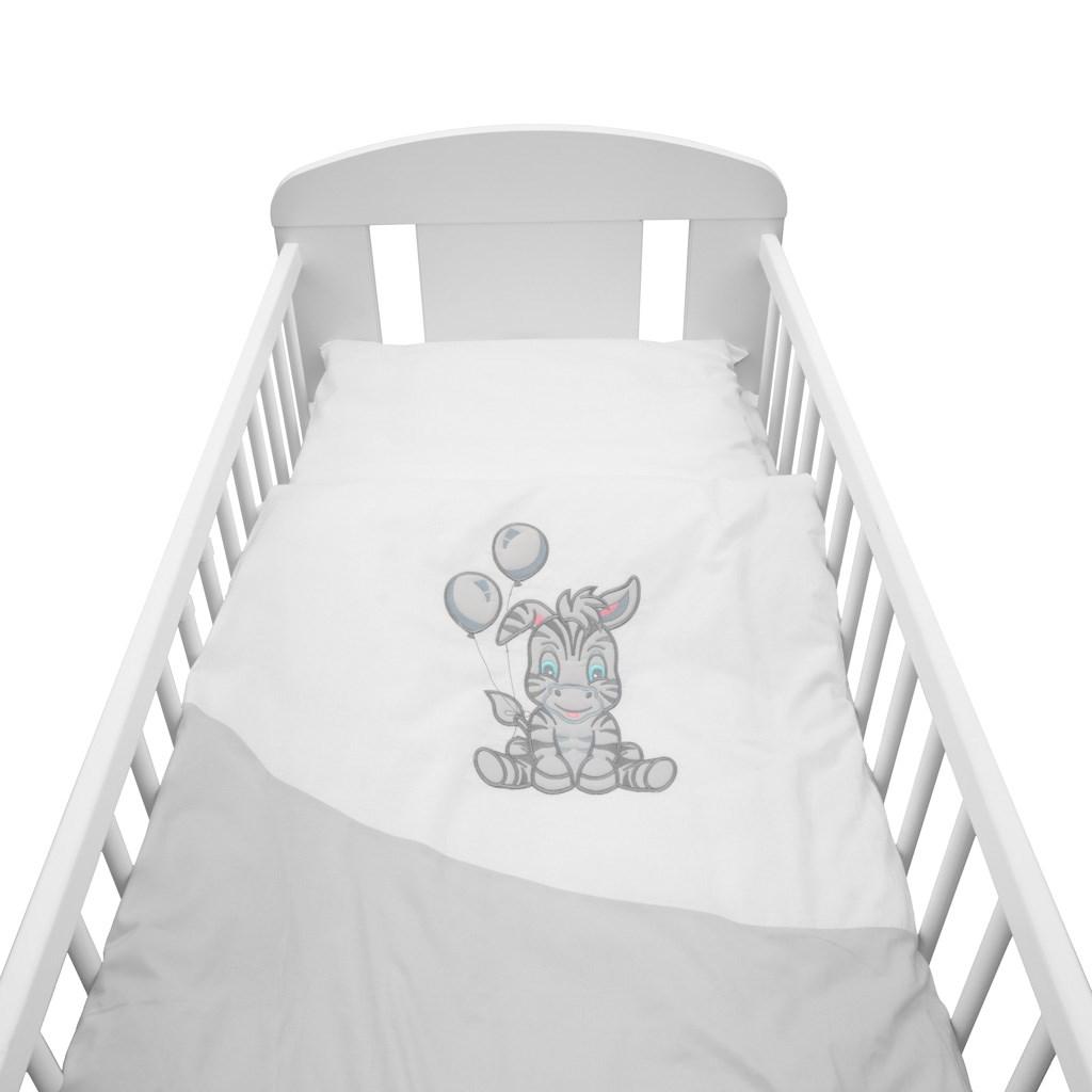 2-dílné ložní povlečení New Baby Zebra exclusive 90/120 bílo-šedé