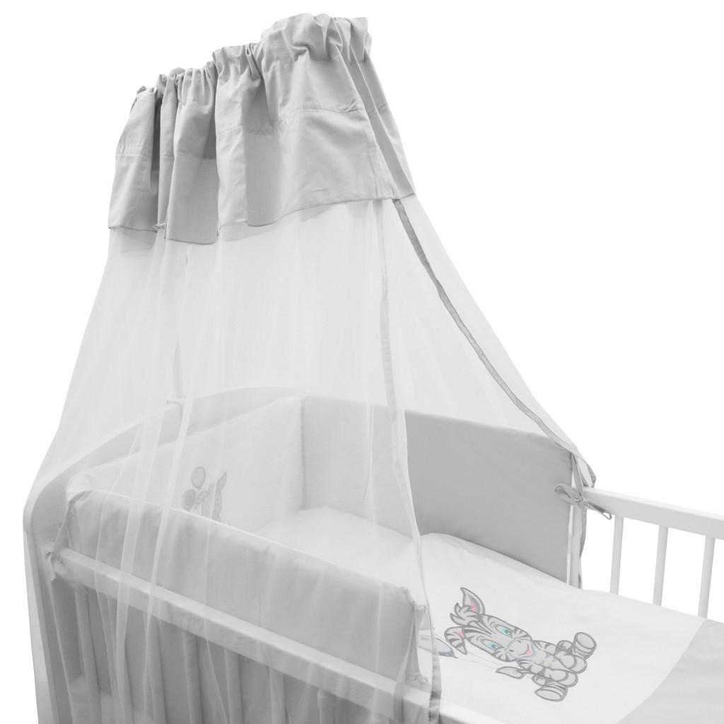 6-dílné ložní povlečení New Baby Zebra exclusive 90/120bílo-šedé