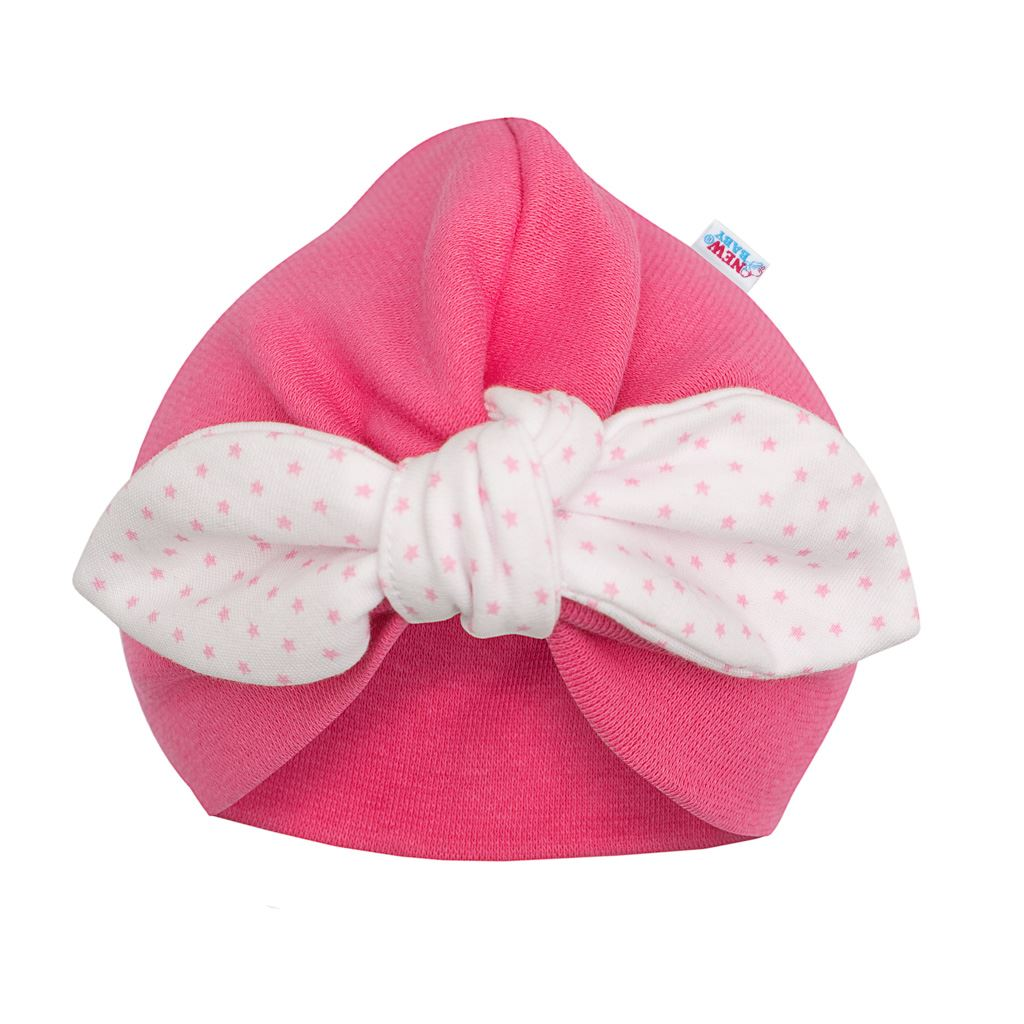 Dívčí čepička turban New Baby For Girls dots, 80 (9-12m)