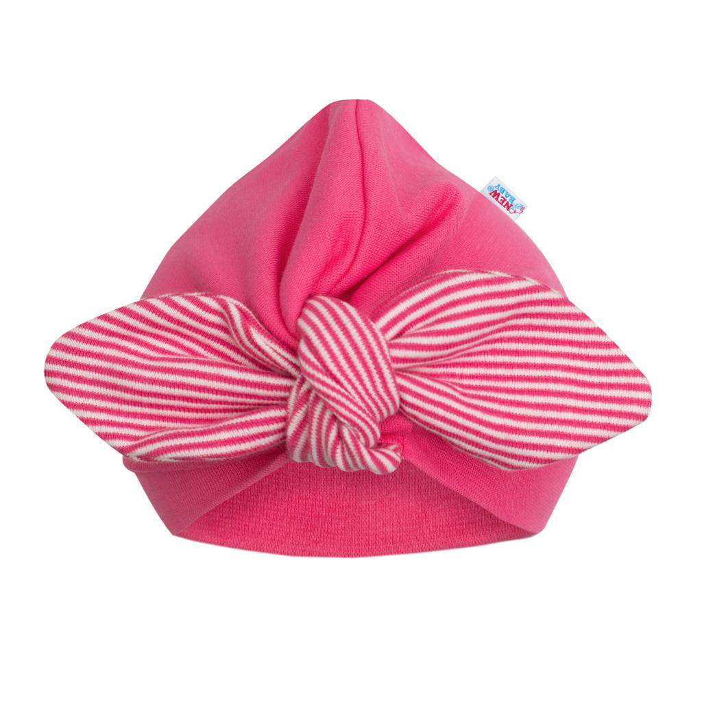 Dívčí čepička turban New Baby For Girls stripes, 62 (3-6m)