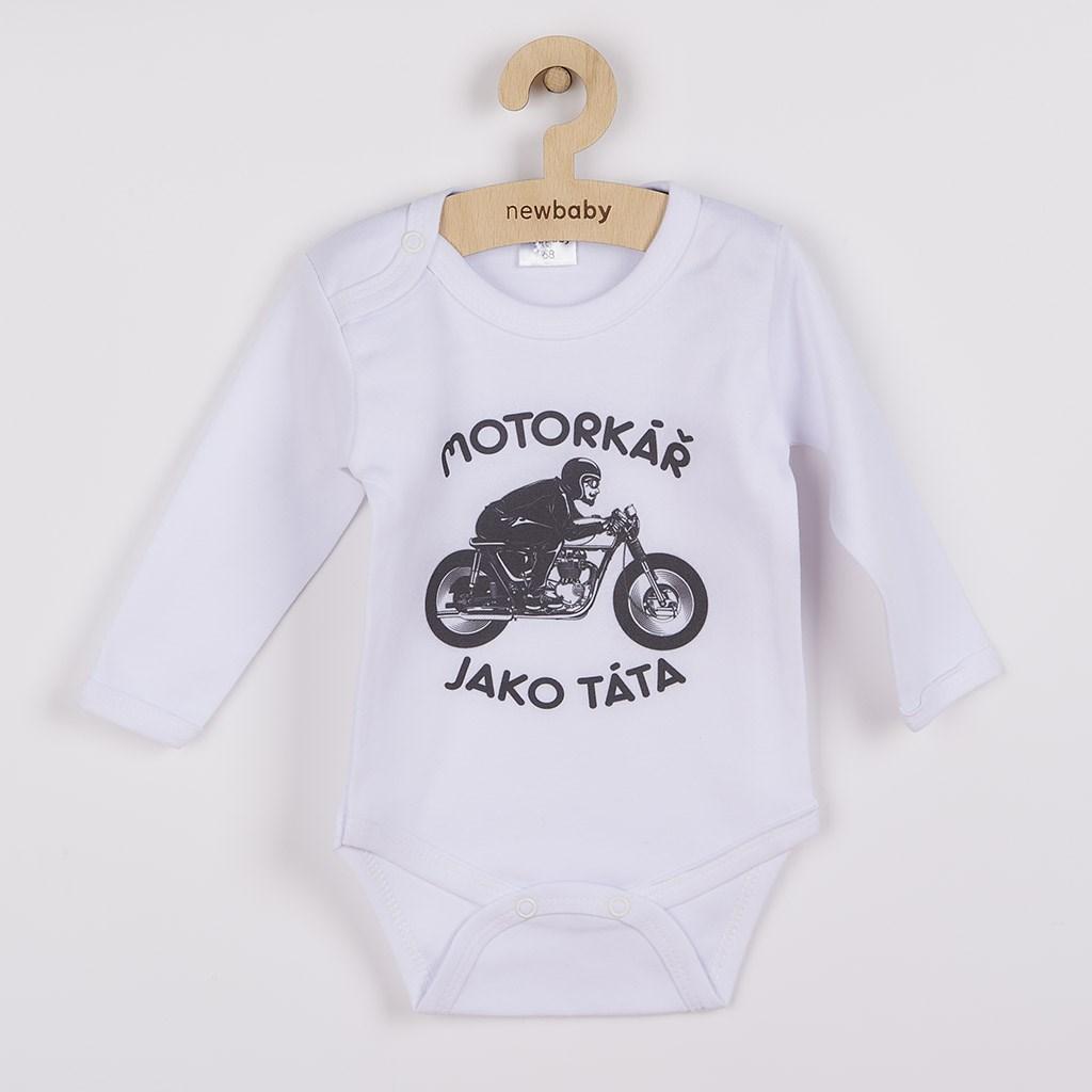 Body s potiskem New Baby Motorkář jako táta, 68 (4-6m)