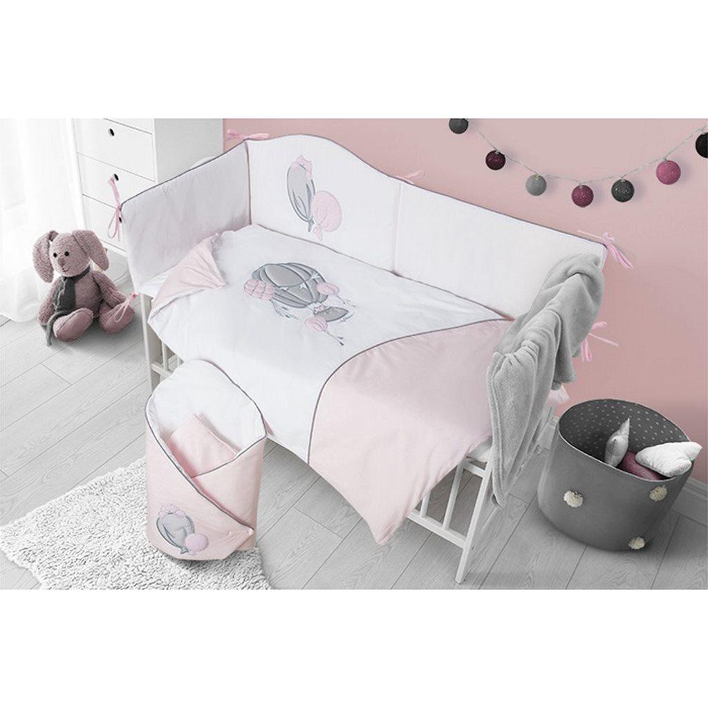 2-dílné ložní povlečení Belisima Ballons 90/120 růžové