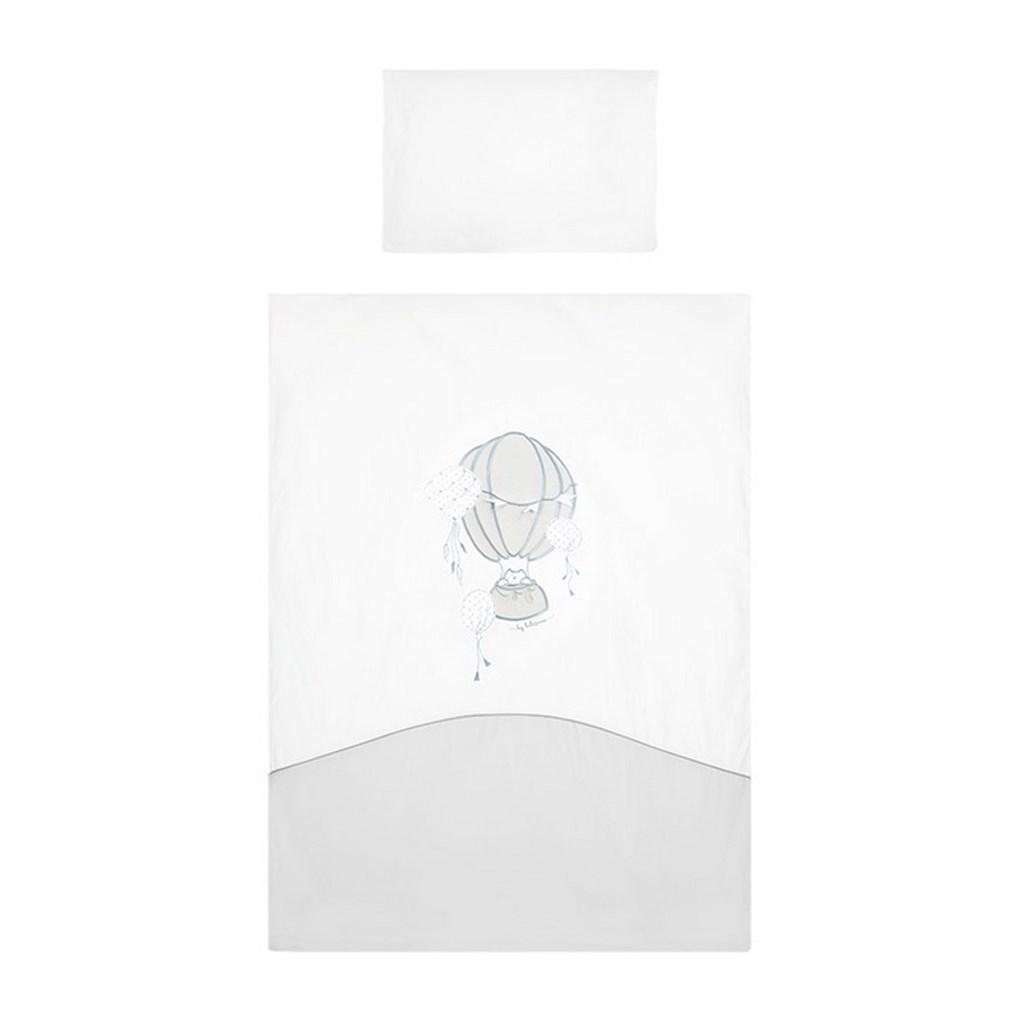 2-dílné ložní povlečení Belisima Ballons 90/120 šedé