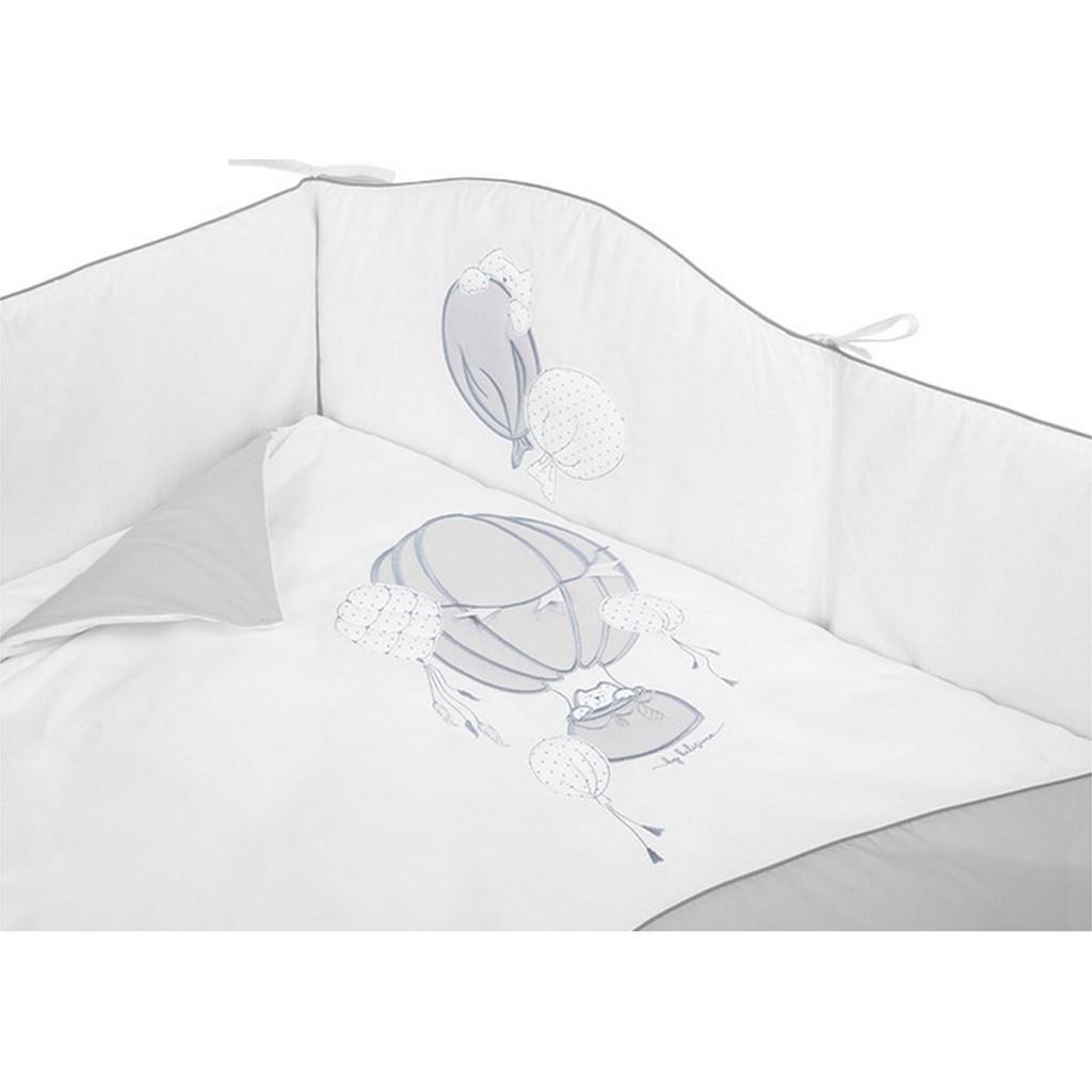 5-dílné ložní povlečení Belisima Ballons 90/120 šedé