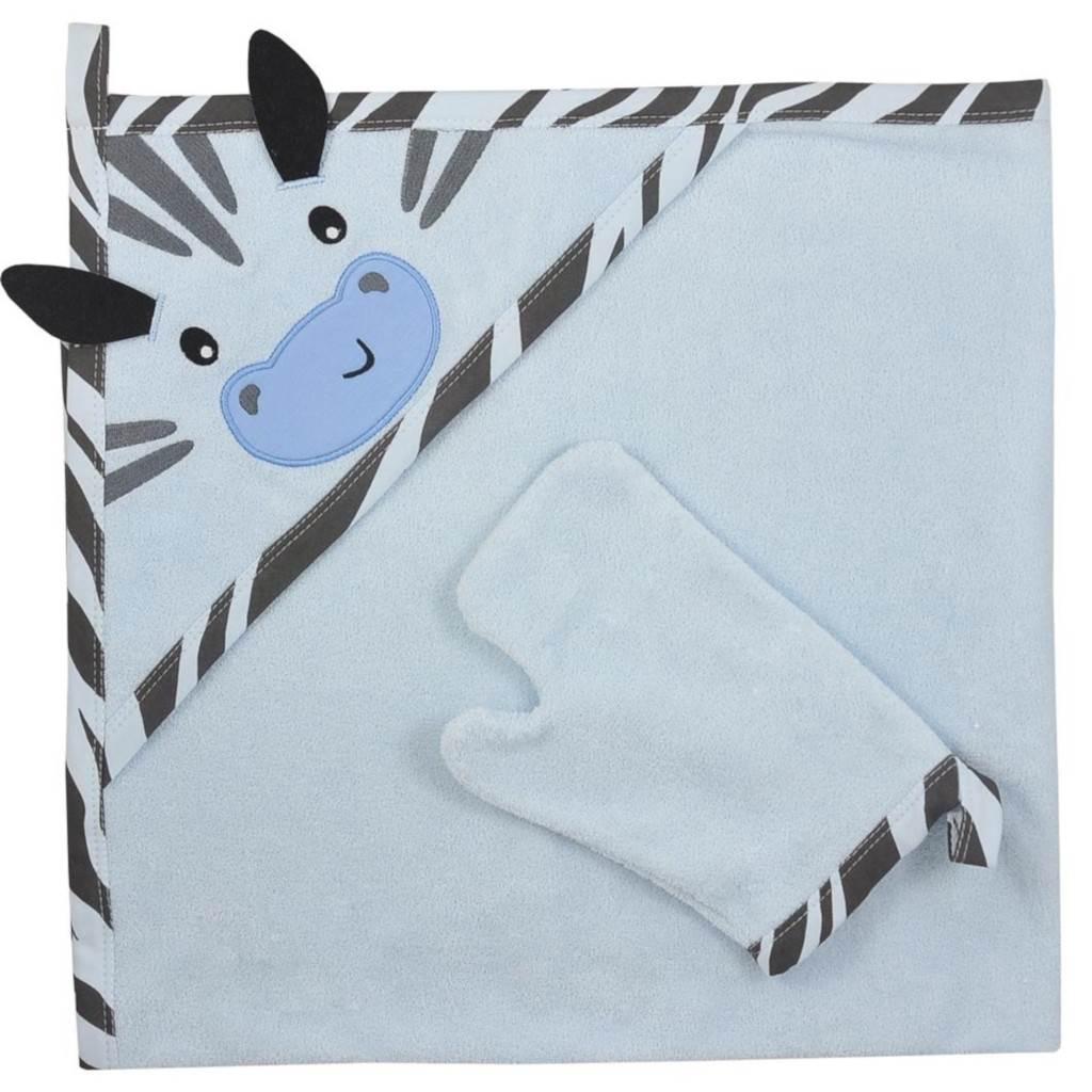 Dětská osuška s žínkou Koala Happy Zebra blue