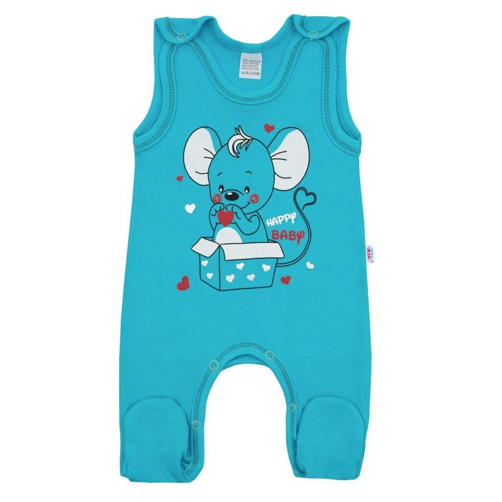 Kojenecké dupačky New Baby Mouse tyrkysové, 74 (6-9m)