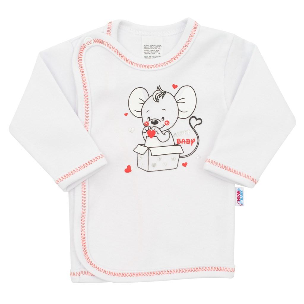 Kojenecká košilka New Baby Mouse bílá, 56 (0-3m)