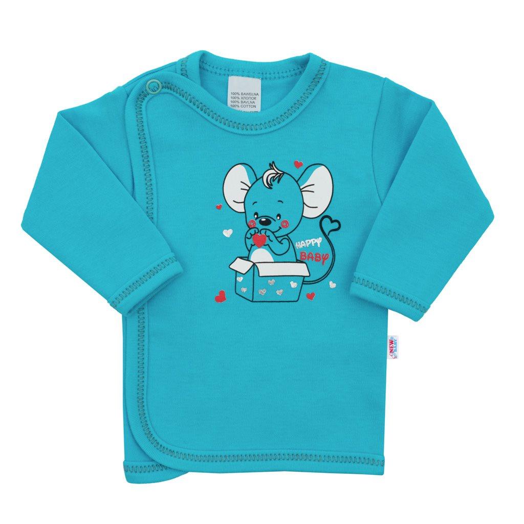Kojenecká košilka New Baby Mouse tyrkysová, 56 (0-3m)