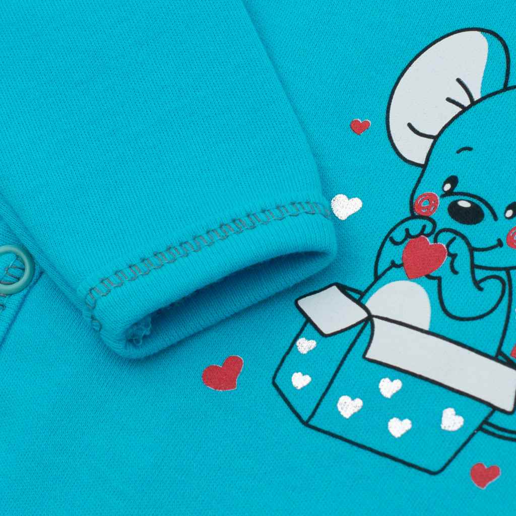 Kojenecká košilka New Baby Mouse tyrkysová, Velikost: 56 (0-3m)