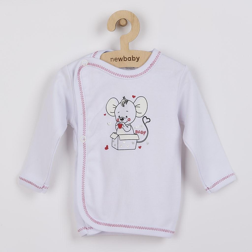 Kojenecká košilka New Baby Mouse bílá, 62 (3-6m)