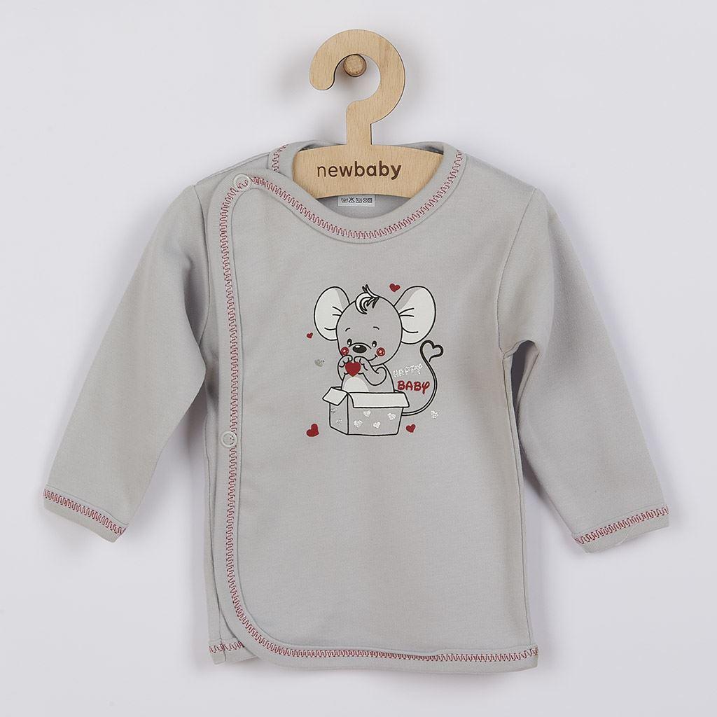 Kojenecká košilka New Baby Mouse šedá, 68 (4-6m)