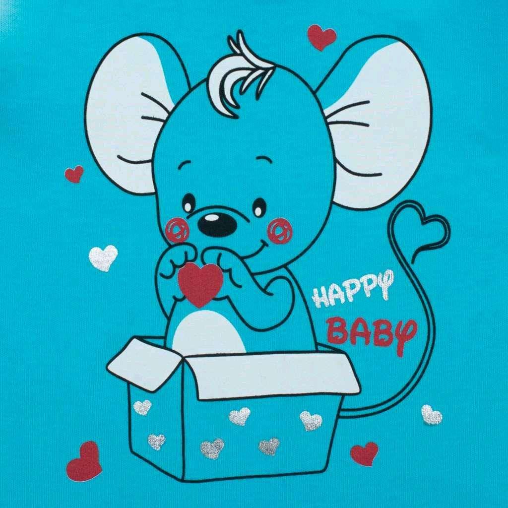 Kojenecká košilka New Baby Mouse tyrkysová, 68 (4-6m)