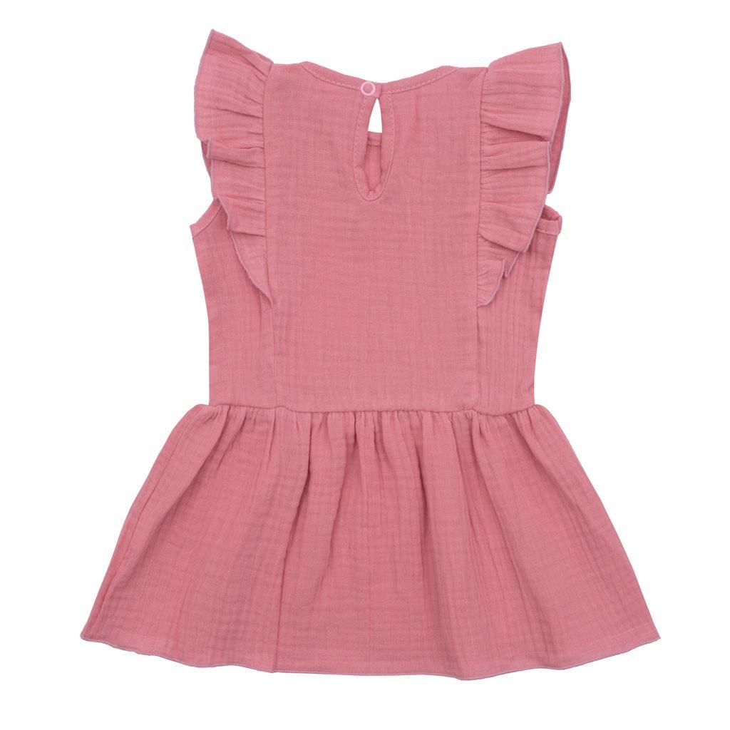 Kojenecké mušelínové šaty New Baby Summer Nature Collection růžové