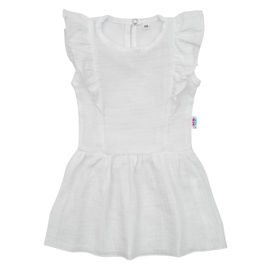 Kojenecké mušelínové šaty New Baby Summer Nature Collection bílé, Velikost: 74 (6-9m)