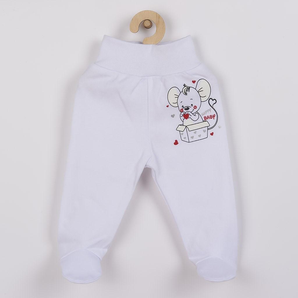 Kojenecké polodupačky New Baby Mouse bílé, Velikost: 68 (4-6m)
