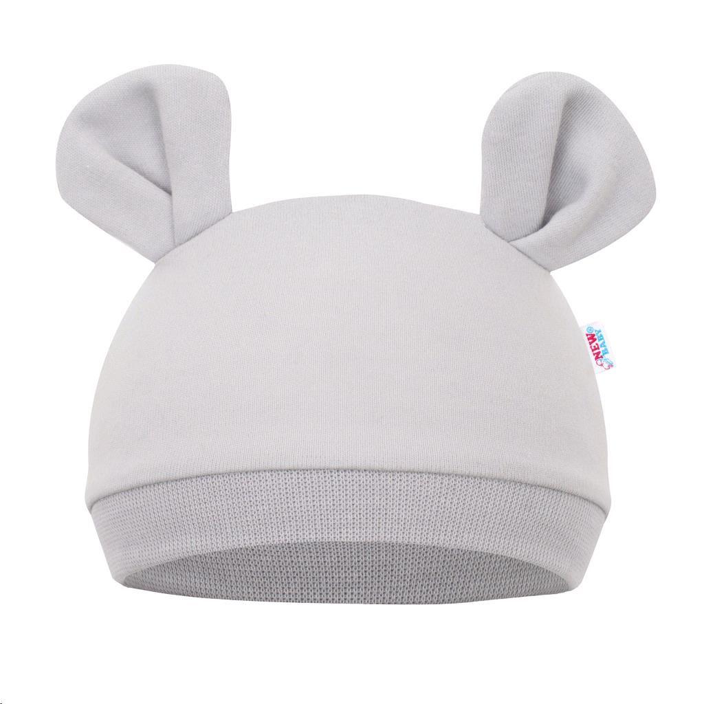 Kojenecká čepička New Baby Mouse šedá