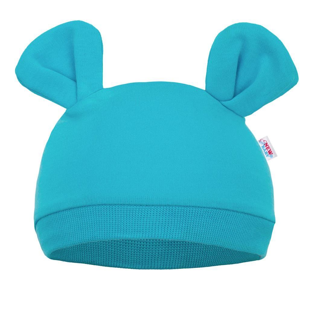 Kojenecká čepička New Baby Mouse tyrkysová