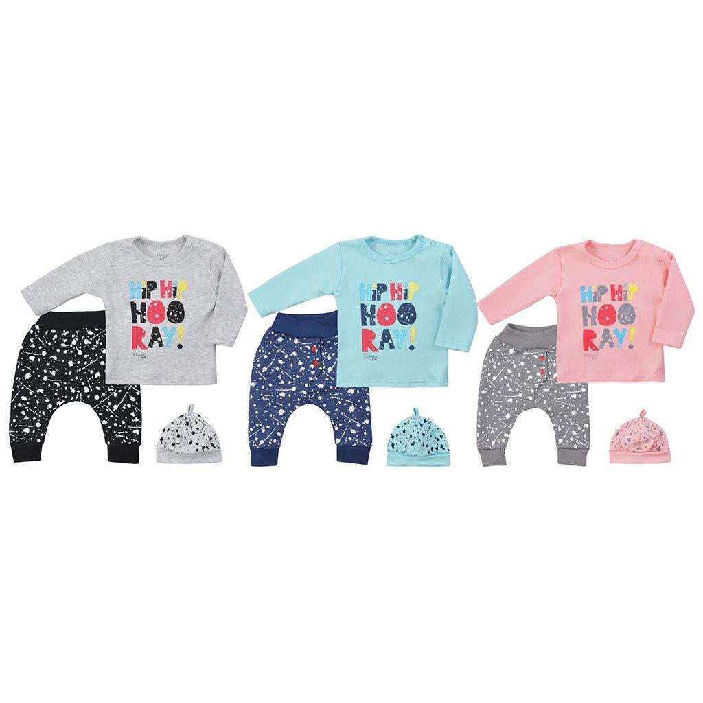 3-dílná dětská souprava Koala Hip-Hip modrá