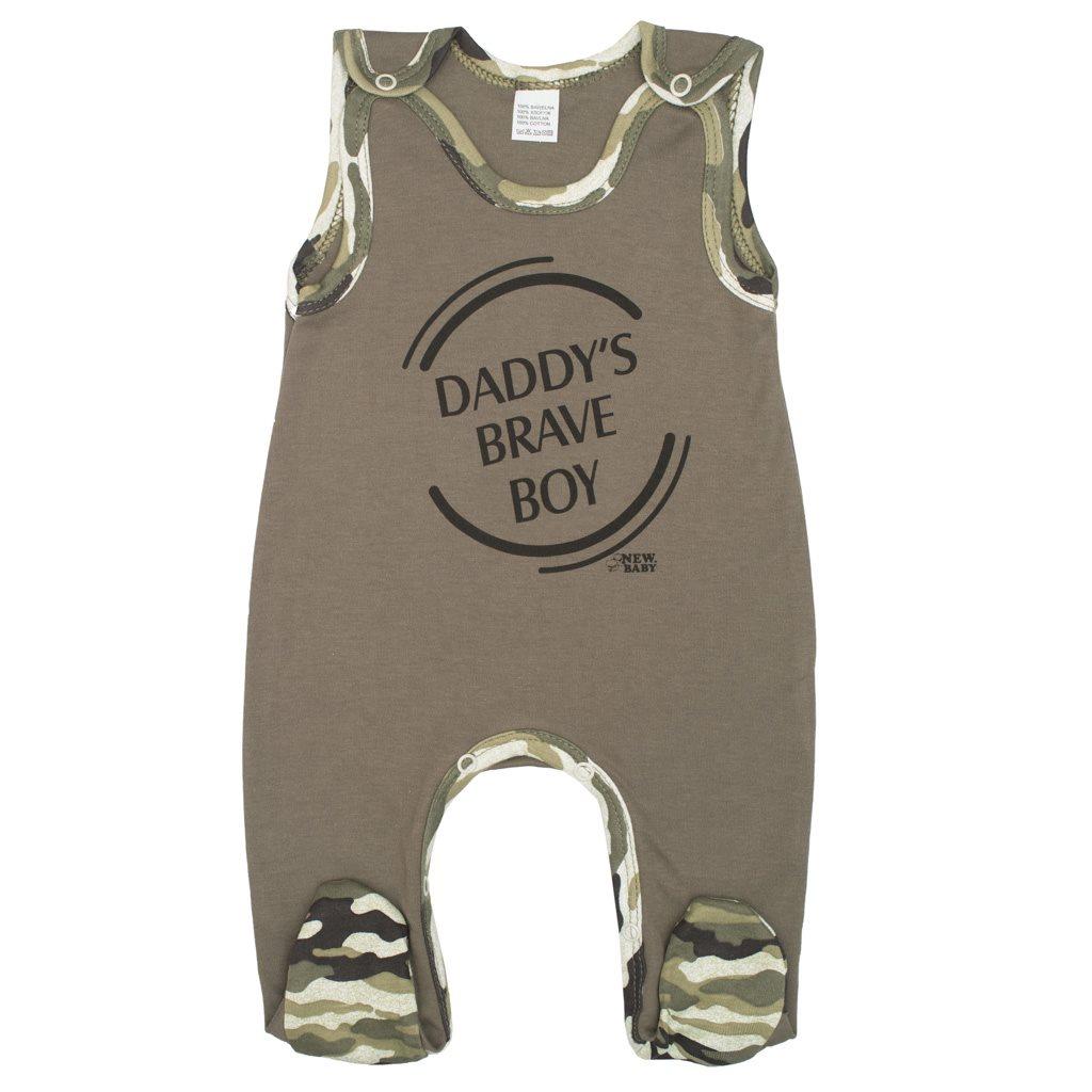 Kojenecké dupačky New Baby Army boy, Velikost: 56 (0-3m)