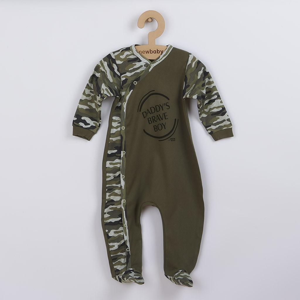 Kojenecký overal New Baby Army boy, Velikost: 56 (0-3m)