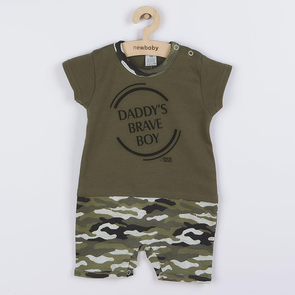 Kojenecký letní overal New Baby Army boy, Velikost: 56 (0-3m)