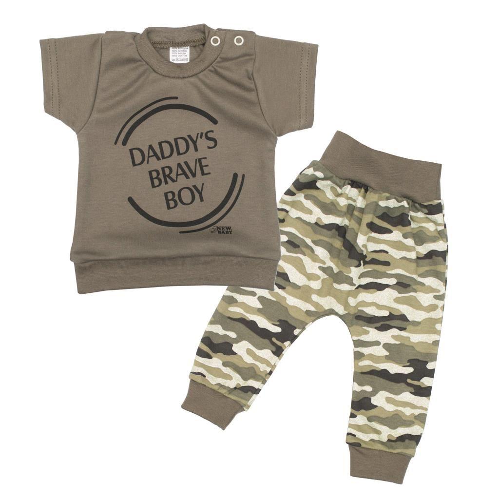 2-dílná kojenecká souprava New Baby Army boy, 56 (0-3m)
