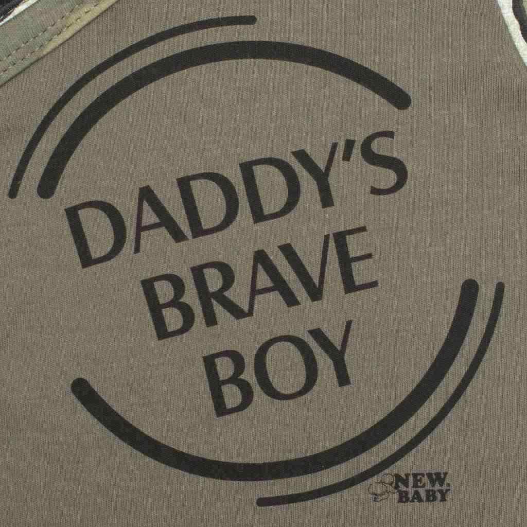 Kojenecké body s krátkým rukávem New Baby Army boy vel. 62