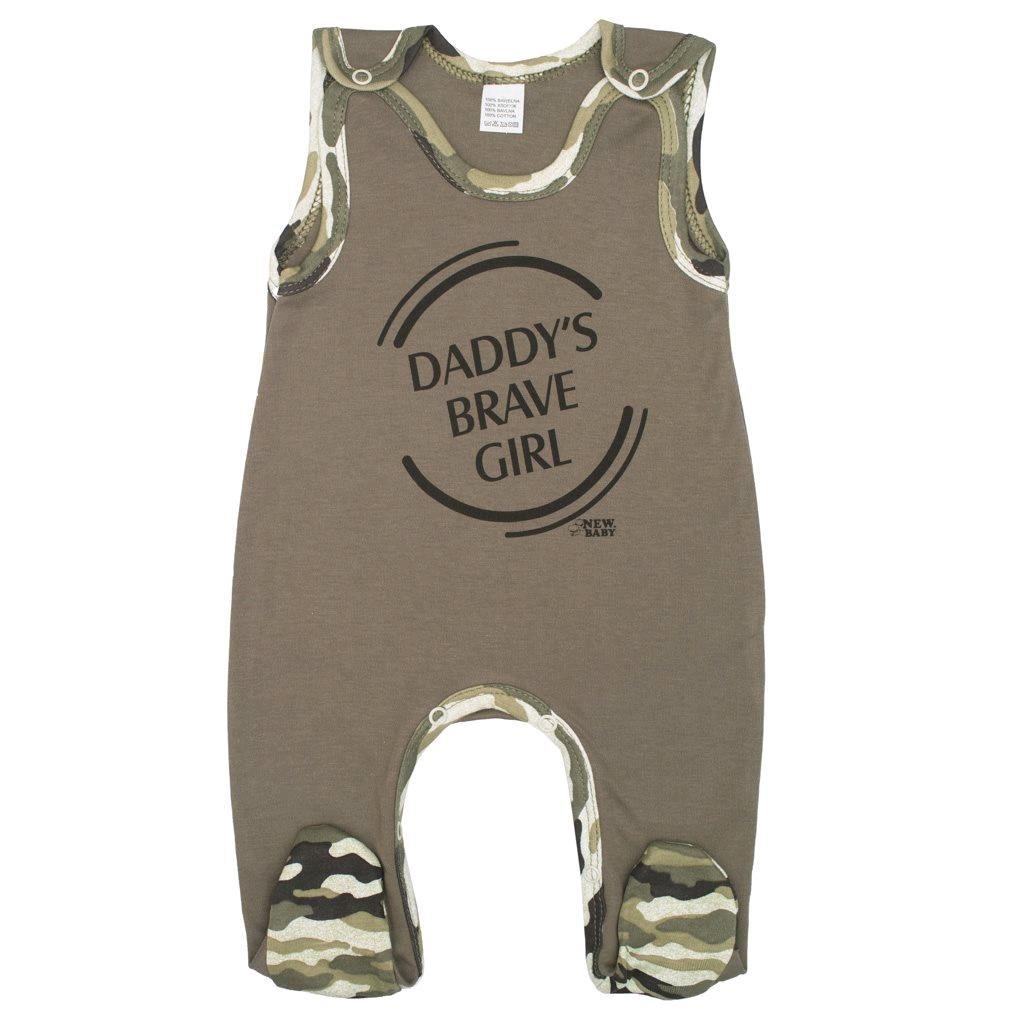 Kojenecké dupačky New Baby Army girl, Velikost: 68 (4-6m)