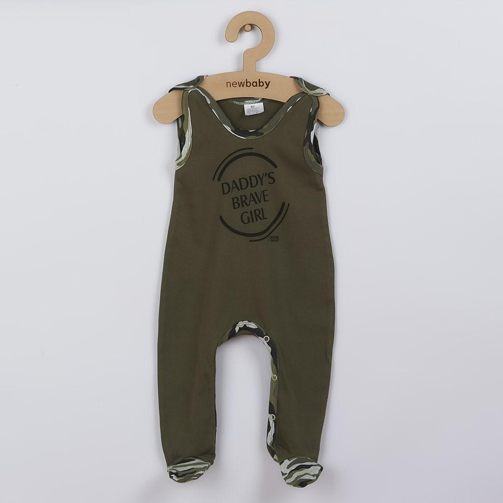 Kojenecké dupačky New Baby Army girl, Velikost: 80 (9-12m)