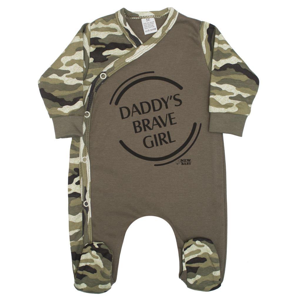 Kojenecký overal New Baby Army girl, Velikost: 56 (0-3m)