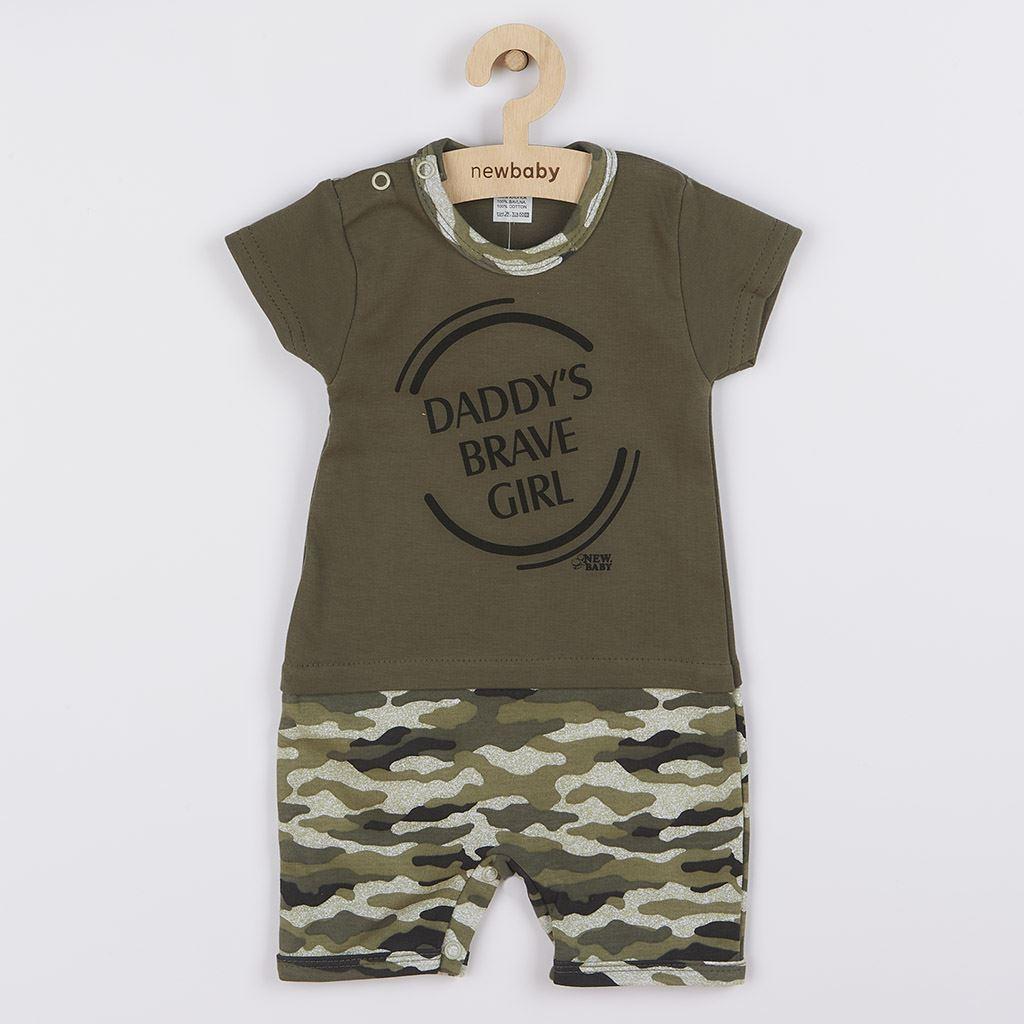 Kojenecký letní overal New Baby Army girl, Velikost: 56 (0-3m)