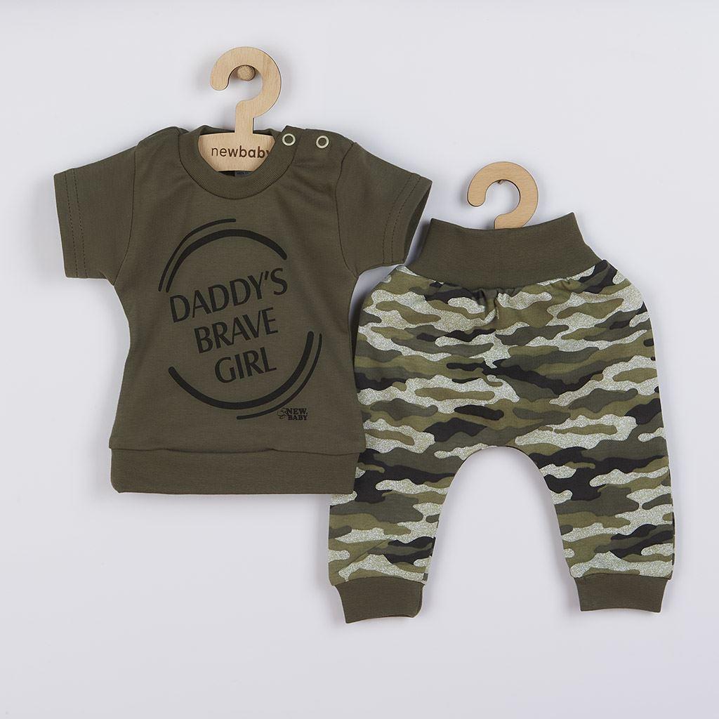 2-dílná kojenecká souprava New Baby Army girl, 56 (0-3m)
