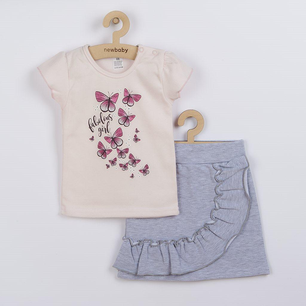 Kojenecké tričko se sukýnkou New Baby Butterflies, 62 (3-6m)