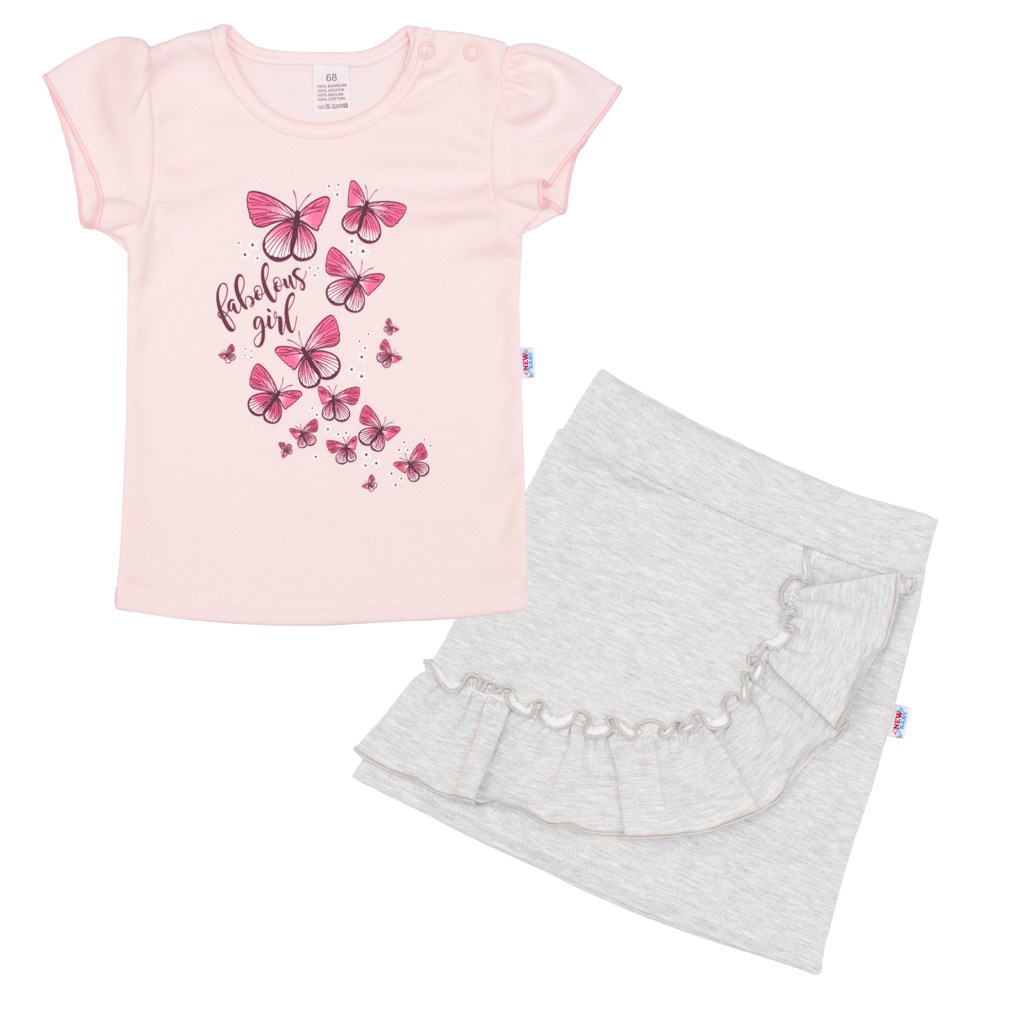 Kojenecké tričko se sukýnkou New Baby Butterflies, 74 (6-9m)