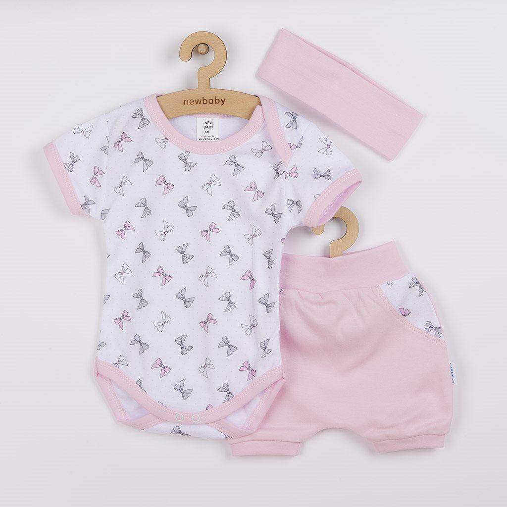 3-dílná letní bavlněná souprava New Baby Perfect Summer růžová, Velikost: 68 (4-6m)