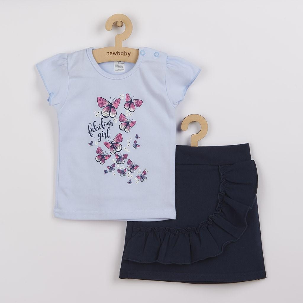 Kojenecké tričko se sukýnkou New Baby Butterflies modrá, 62 (3-6m)