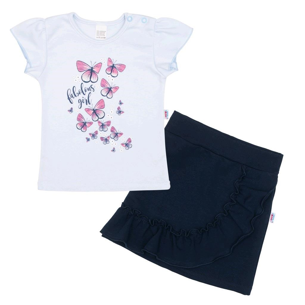Kojenecké tričko se sukýnkou New Baby Butterflies modrá, 80 (9-12m)