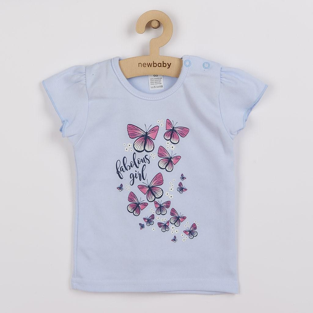Kojenecké tričko se sukýnkou New Baby Butterflies modrá, 92 (18-24m)