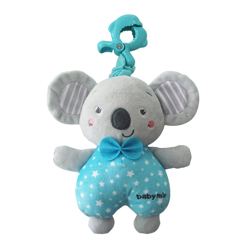 Edukační hrající plyšová hračka s klipem Baby Mix koala