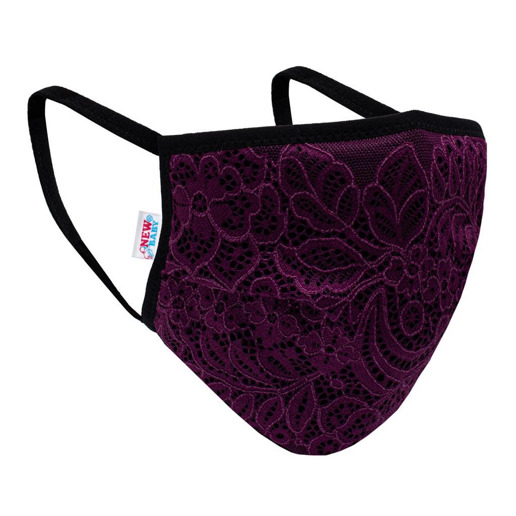 Ochranná textilní rouška New Baby fialová, Univerzální