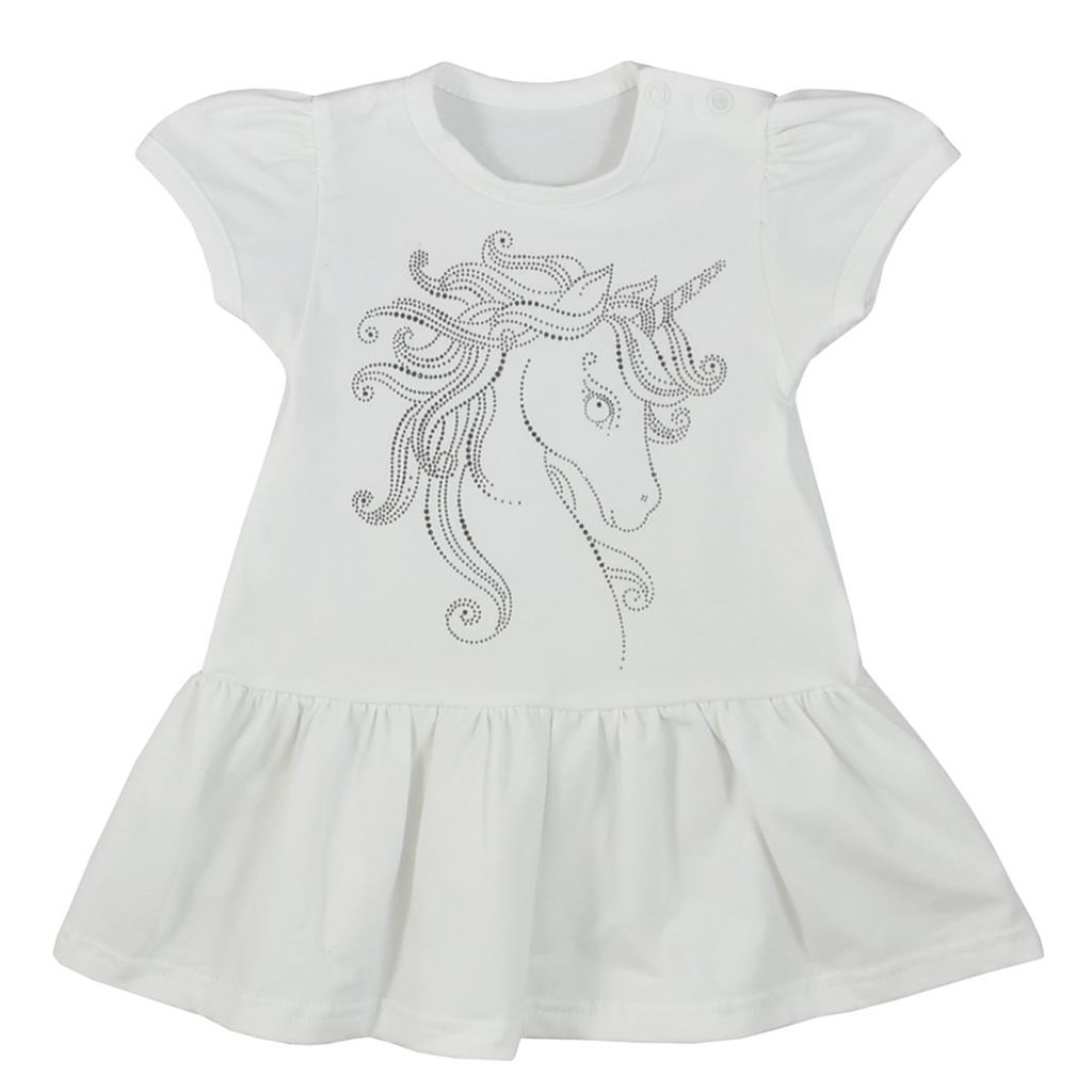 Kojenecké letní šaty Koala Unicorn Summer bílé