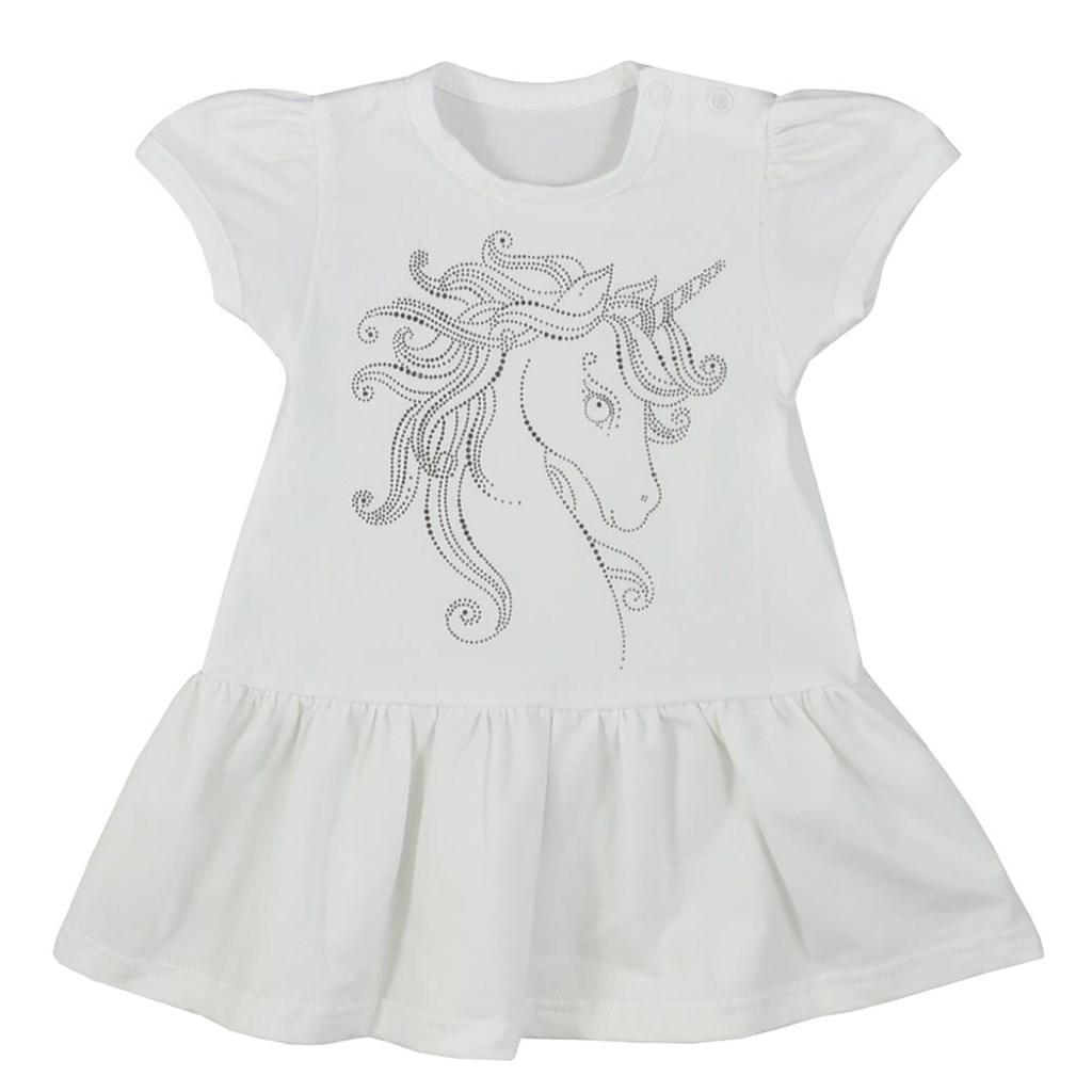 Kojenecké letní šaty Koala Unicorn Summer bílé, Velikost: 74 (6-9m)