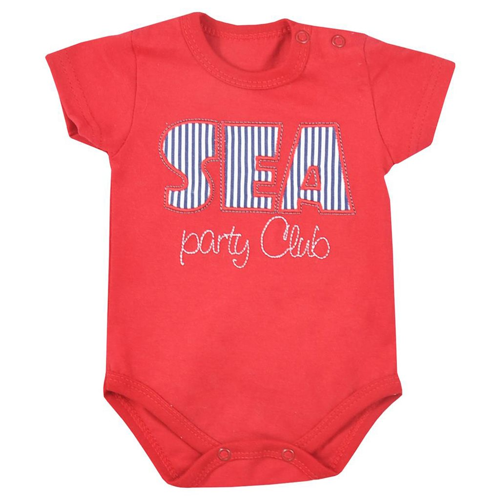 Body Koala Sea Party červené, vel. 68