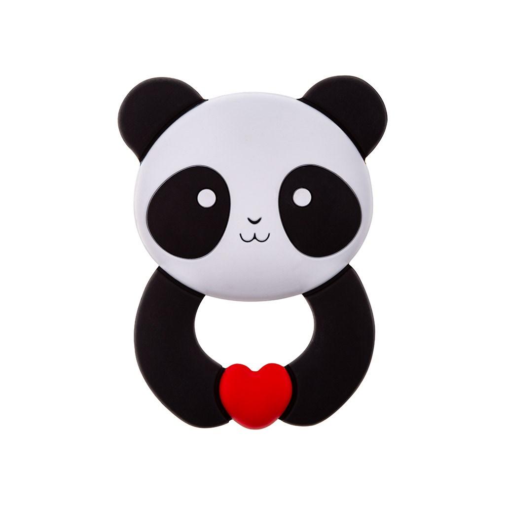 Dětské silikonové kousátko Akuku Panda