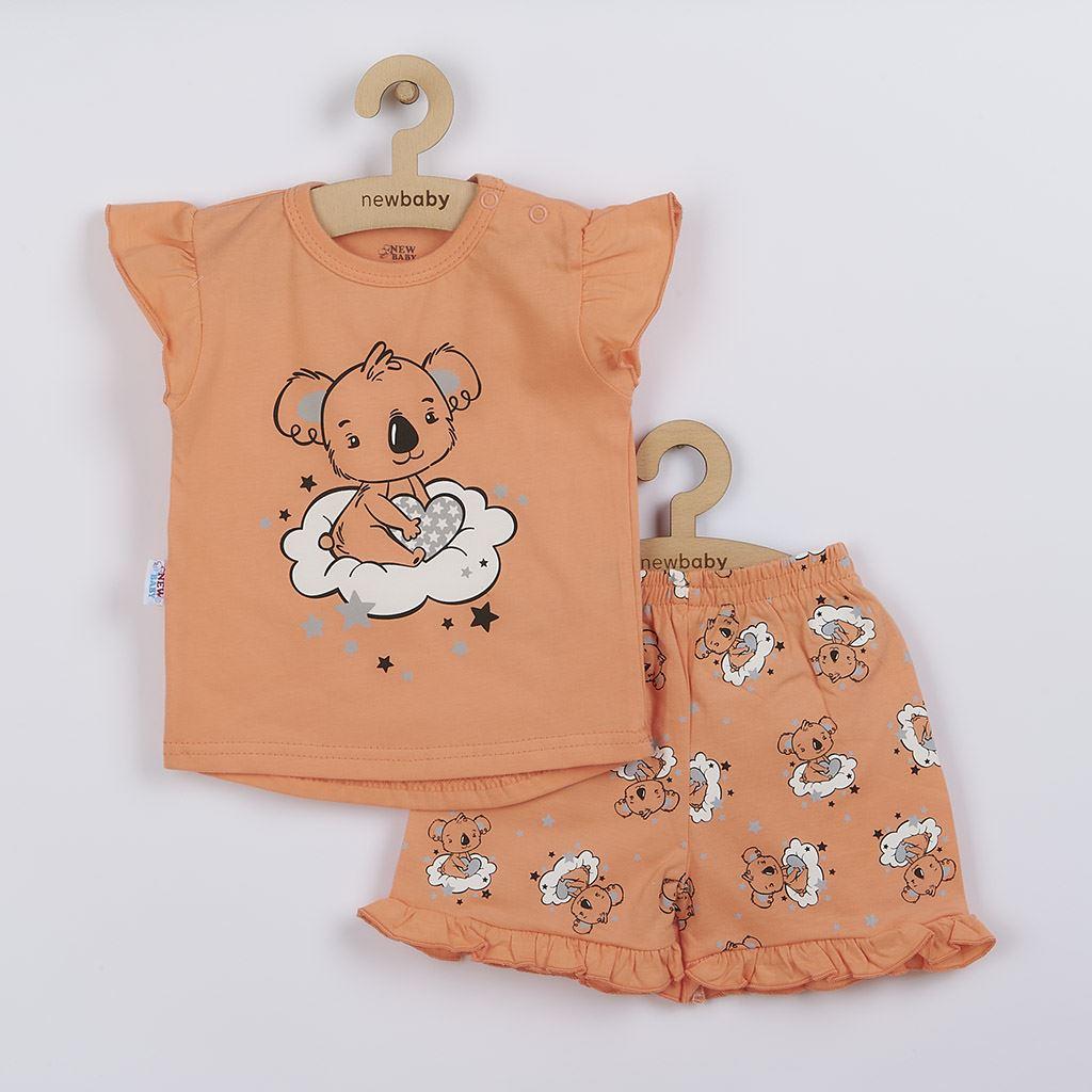 Dětské letní pyžamko New Baby Dream lososové, Velikost: 86 (12-18m)