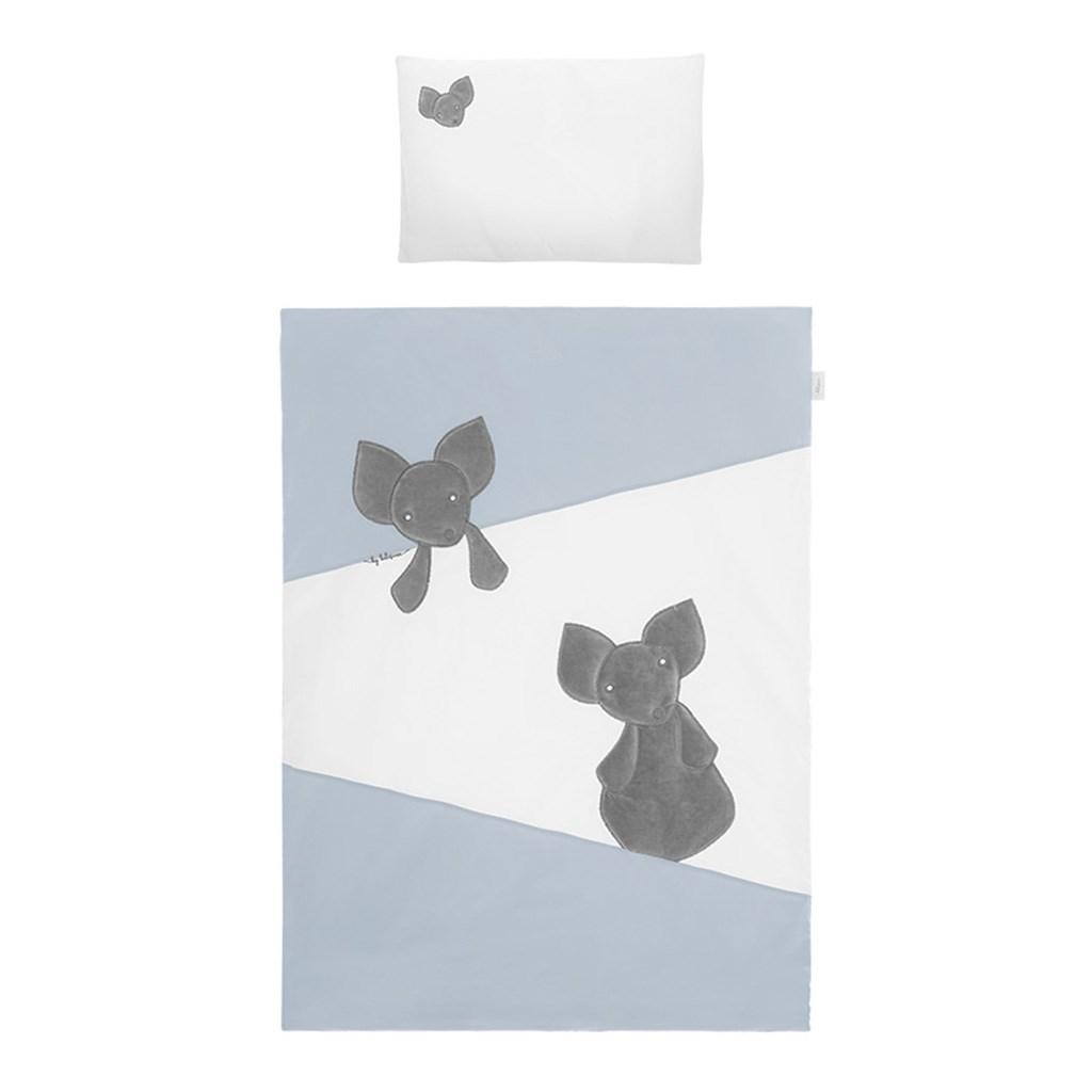 2-dílné ložní povlečení Belisima Mouse 100/135 modré